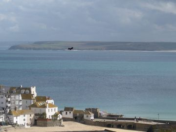 St Ives Harbour in early April