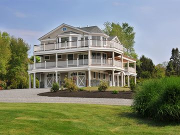 Expansive decks provide beautiful views of Narragansett Bay.