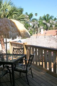 Nokomis house rental - Dine or lounge on the upper balcony deck, with its beautiful view