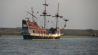 South Padre Island house photo - Pirate ship in the Bay