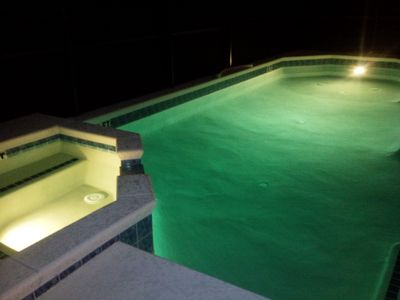 Pool & spa by night
