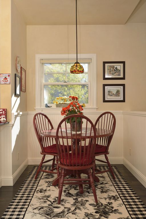 Sunny breakfast nook adjacent to kitchen.