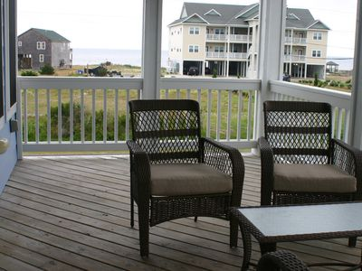 The Second Floor Deck with beautiful views of Pamlico Sound