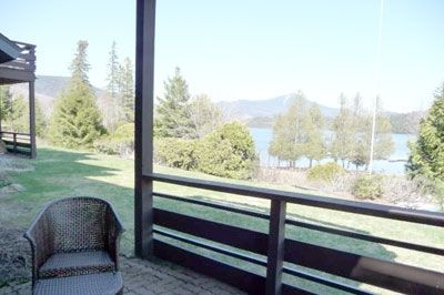 Your ground level private patio overlooking Lake Placid and Whiteface Mtn.
