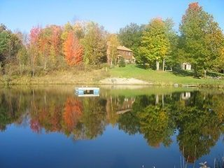 Middletown Springs house photo - view of house from pond