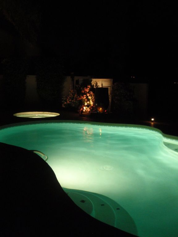 Night time fun in the Pool