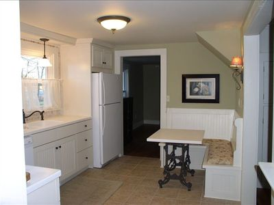 A small nook in the kitchen adds to cozy family enjoyment