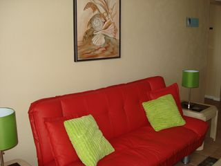 South Padre Island condo photo - NEWLY REDECORATED Living room with futon