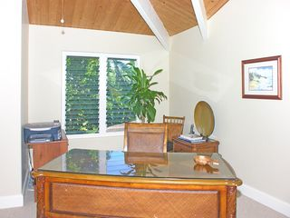 Princeville house photo - Office equipped with WiFi, Printer, Fax and Phone