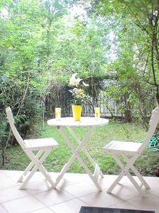17th Arrondissement Batignolles-Monceau studio rental - Terrace and private garden