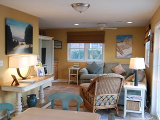 Rehoboth Beach house photo - Comfy family room with ent. system, wetbar & more