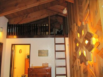 Loft at top left of stairs