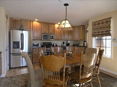 Fully Equipped Kitchen with all stainless steel appliances Seats 8 for Dinner