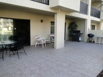 Large patio that is accessable from both the living area and master bedroom