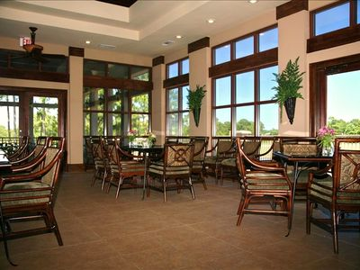 Interior Seating at the Emerald Bay Clubhouse Grill