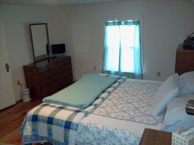 Madison apartment rental - Master Bedrm has king bed,