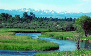The Spanish Peaks are a spectacular backdrop at Twin Rivers Ranch.