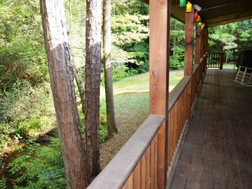 Covered deck with creek