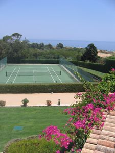 Sesmarias villa rental - Tenniscourt