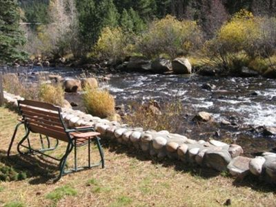 Enjoy the sight and sound of the Big Thompson River