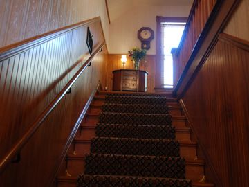 The Manor House entry stairs