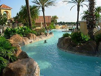 Lazy river at at pool area