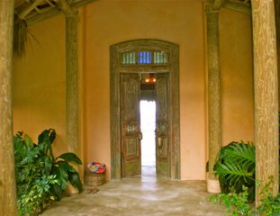 Cabrera villa photo - Wonderful Welcome. 200 year old hand carved teak Indian door.