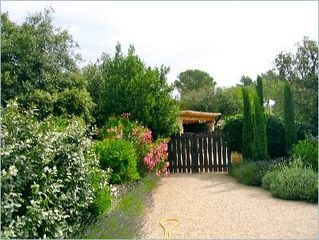 Gordes house photo - Gate leading to our private covered parking area.