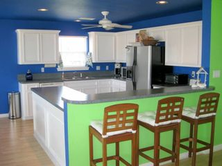 Kitchen is new and very well equipped with all the amenities of a private home