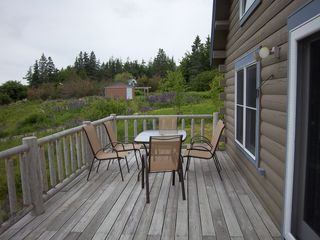 Trenton cabin photo - Deck with new deck furniture - watch the wildlife from above.
