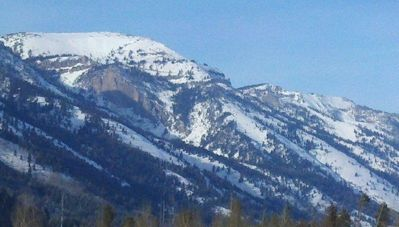 Nearby view of Rendezvous Bowl at Jackson Hole Mountain Resort