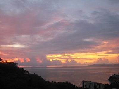 Puerto Vallarta house rental - Dramatic sunsets from patio.