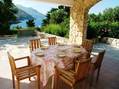 Beautiful villa on the sea front with garden, amazing view on the sea and private access to the seaside