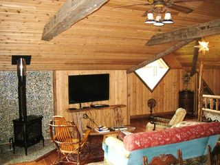 Lake Placid chalet photo - Wide Screen TV and Gas Stove