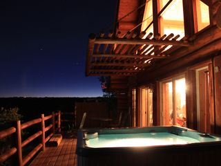 Photo taken by a couple from Switzerland on a summer full moon night 2011 - Mesa Verde cabin vacation rental photo