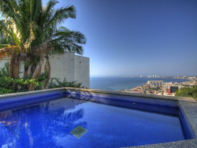 Puerto Vallarta condo rental - Our heated dipping pool with views and privacy