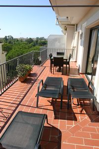 3 large balconies,loungers,dinning tables and chairs