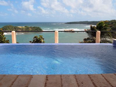 Luxury private beachfront villa with spectacular views