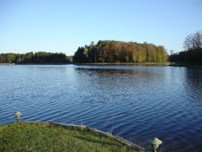 Property is located on a private lake 6 miles S. of W. Mitchell State Park