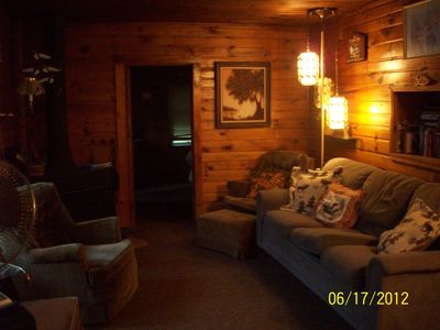 Ottertail cabin rental - Living area Main Cabin