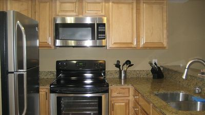 Kitchen-Granite, Stainless Steel, New Appliances