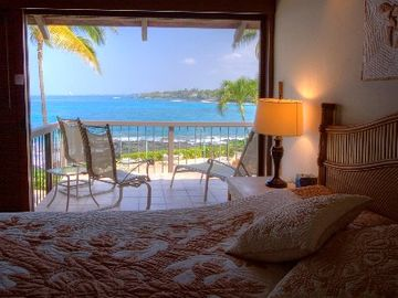 The Master bedroom has an amazing view from the king-bed! Very romantic!