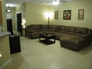Wildflower Ridge villa photo - Large sectional with 2 oversized recliners and a reclining chaise