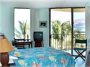 Master Bedroom with ocean and view of West Maui Mountains