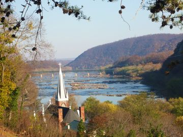 view from Jefferson Rock, Harpers Ferry