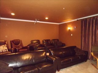 Hood River house photo - Theater Rm is Comfortably Furnished w/ Leather Seating, Bean Bags, Chairs & ....