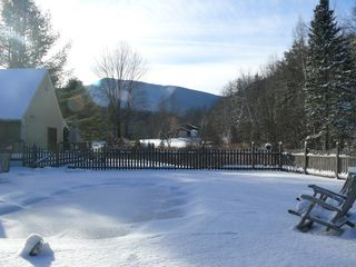 Gorham apartment photo - Backyard in the winter with view of mountains and plenty of room to play