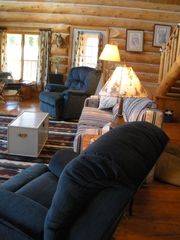 Fairplay cabin photo - One large Gathering Room. Movies, Wi-Fi, telescope to name a few.