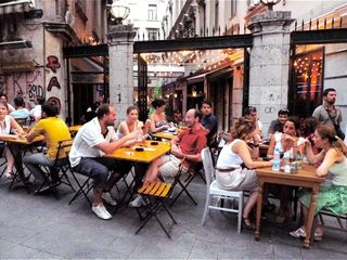 Istanbul apartment photo - Al fresco dining at Tunel, just up the street. The best restaurants in Ist!