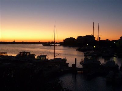 stunning sunrise on the Marina from our window